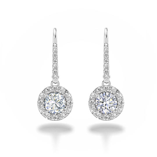 Forevermark Center of My Universe Halo Drop Earrings