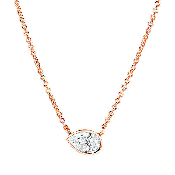 Forevermark Tribute Rose Gold Pear Diamond Pendant