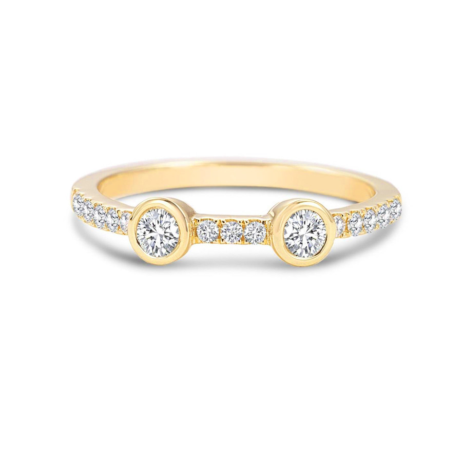 Forevermark Stackable Yellow Gold Diamond Tribute Ring
