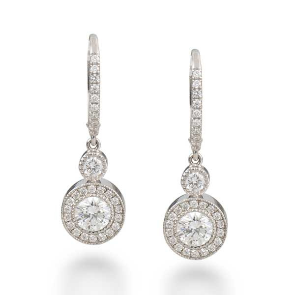 Forevermark White Gold Diamond Drop Earrings