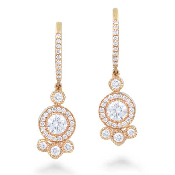 Forevermark Rose Gold Diamond Cluster Drop Earrings