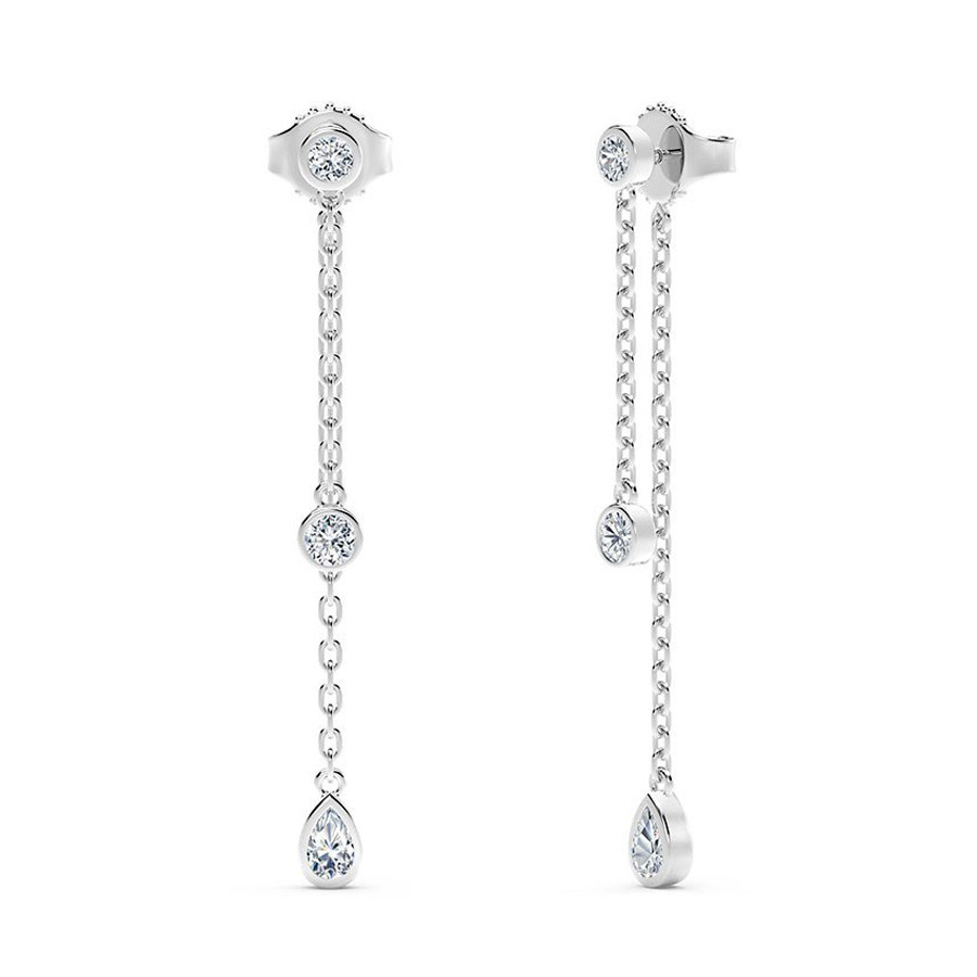 Forevermark White Gold Tribute Diamond Dangle Earrings