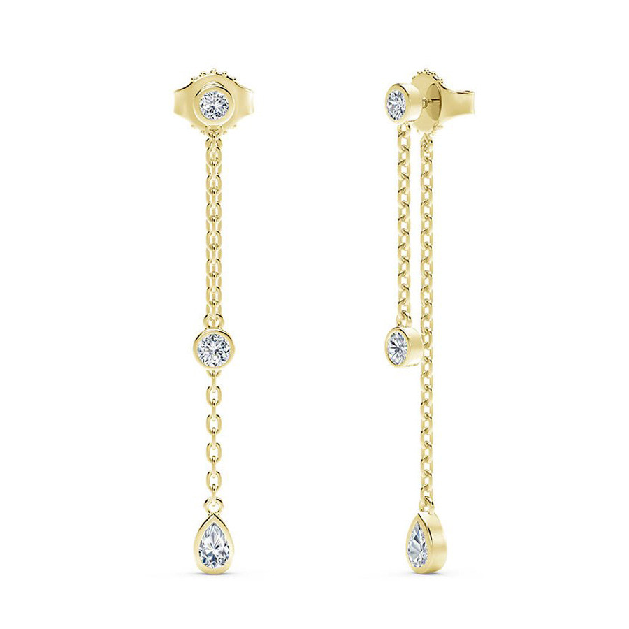 Forevermark Tribute Yellow Gold Diamond Dangle Earrings