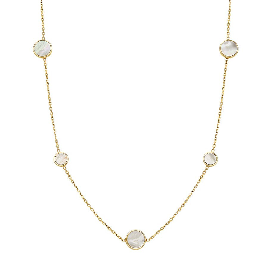 Honora Mother of Pearl Circle Station Tincup Necklace
