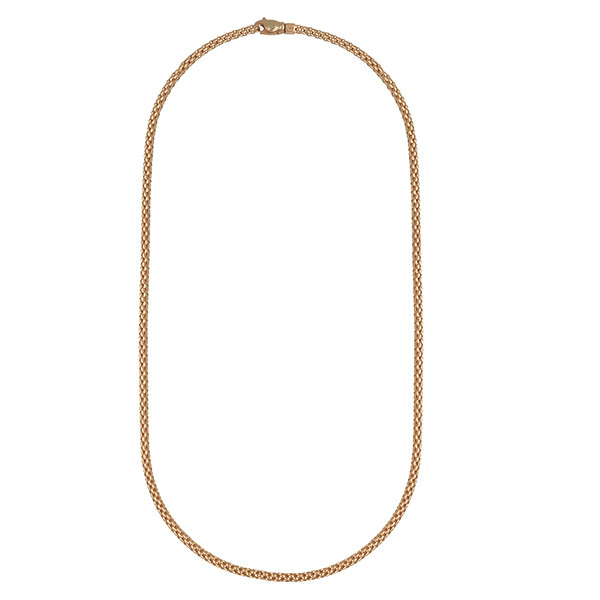 """Fope 18"""" Classic 2.8mm Rose Gold Mesh Necklace"""
