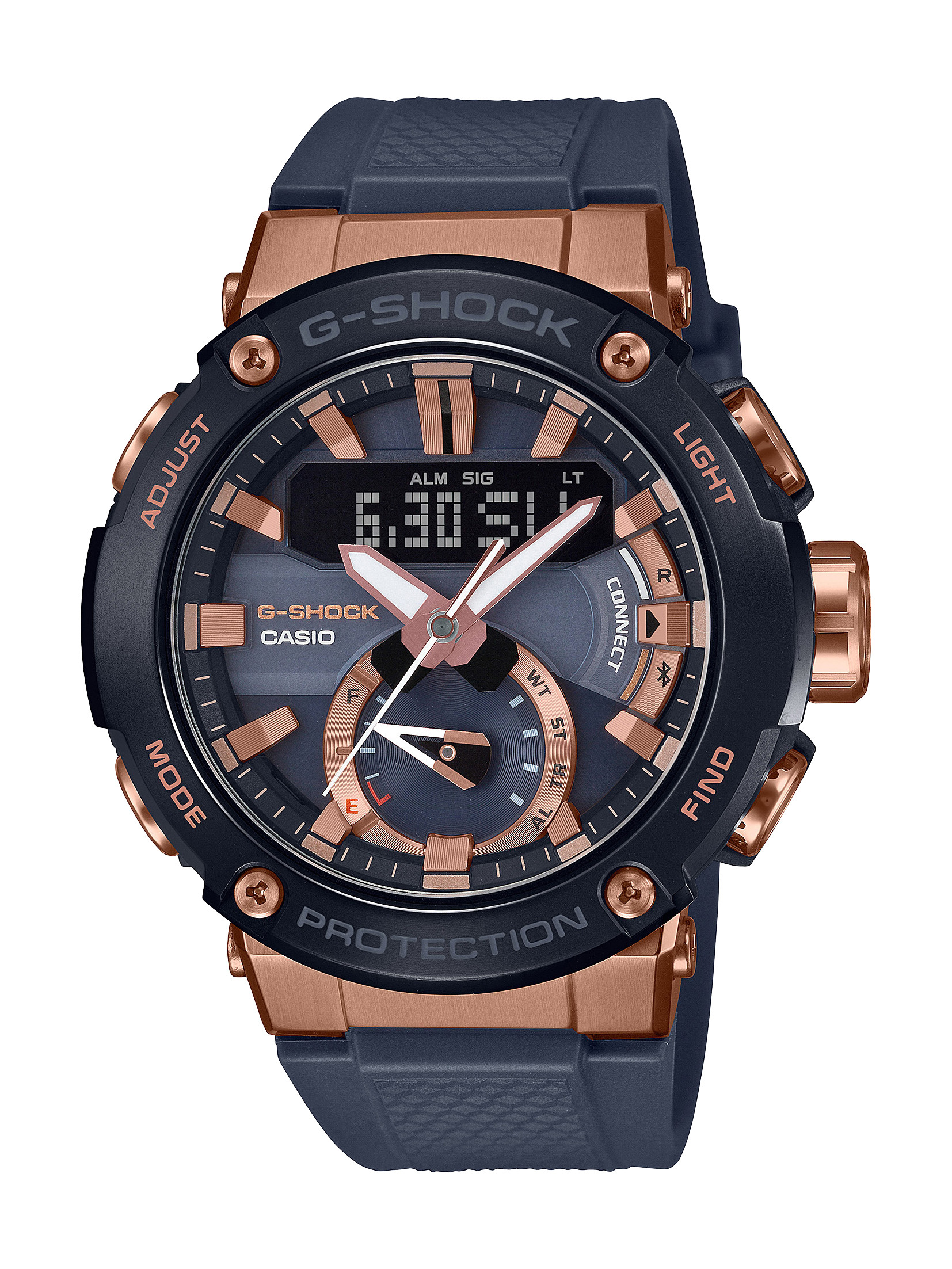 G-SHOCK Carbon Core Black and Rose Gold Watch