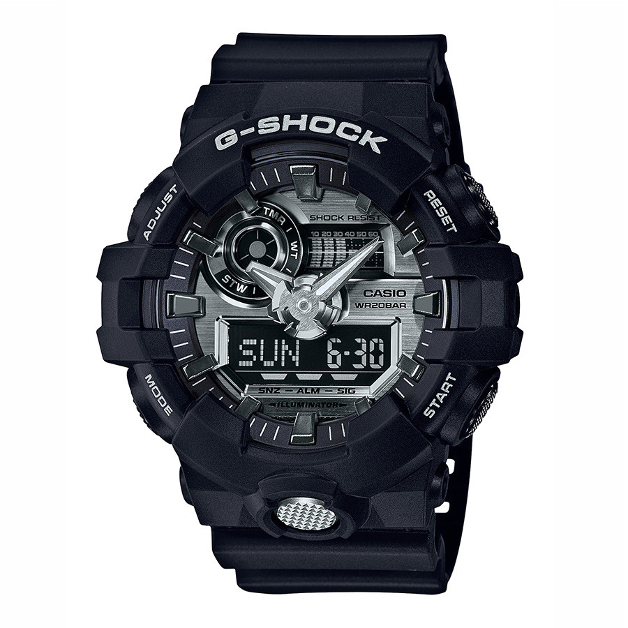 Casio Oversized Black Resin & Silver Dial G-Shock Watch