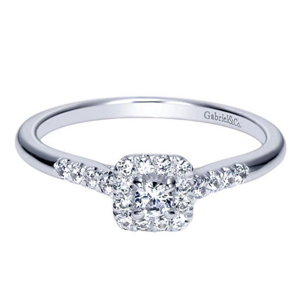 Gabriel&Co Halo Engagement Ring