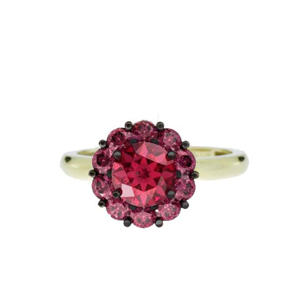 Color My Life Ruby Ring in Yellow Gold