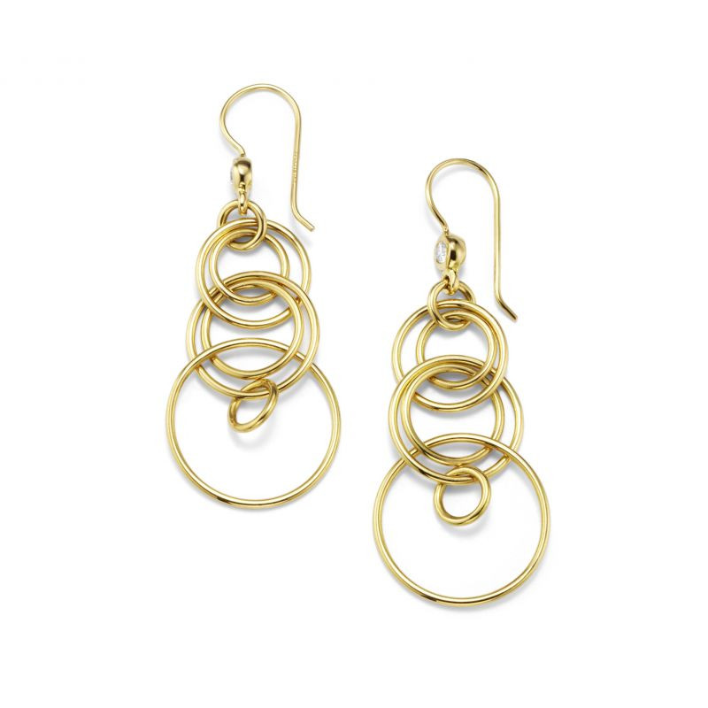 IPPOLITA 18K Gold Classico Mini Jet Set Earrings