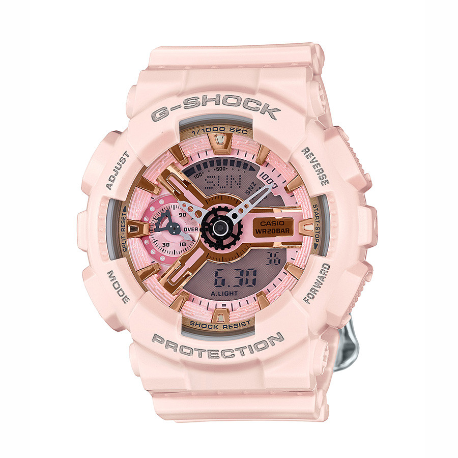 Casio Pink Resin G-Shock S Series Watch