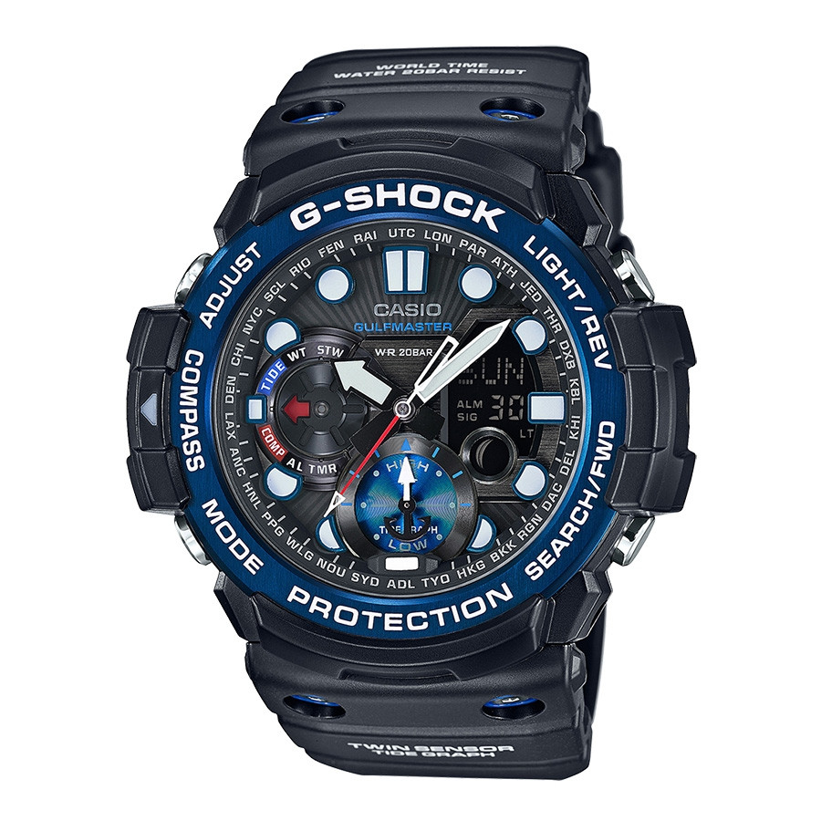 G-Shock Casio Master of G Black & Blue Accent Watch