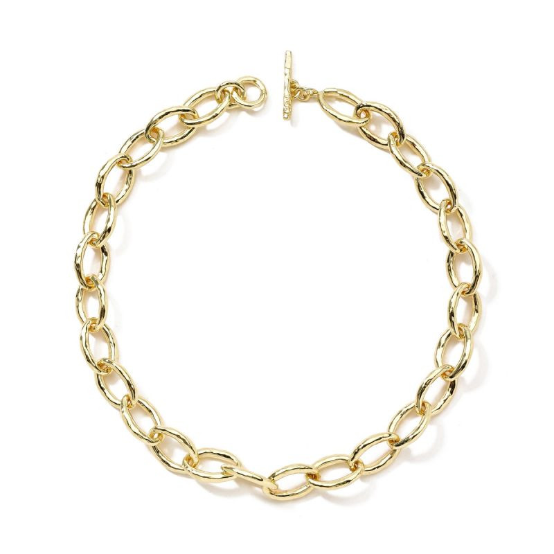 Ippolita 18K Gold Classico Bastille Link Necklace full view