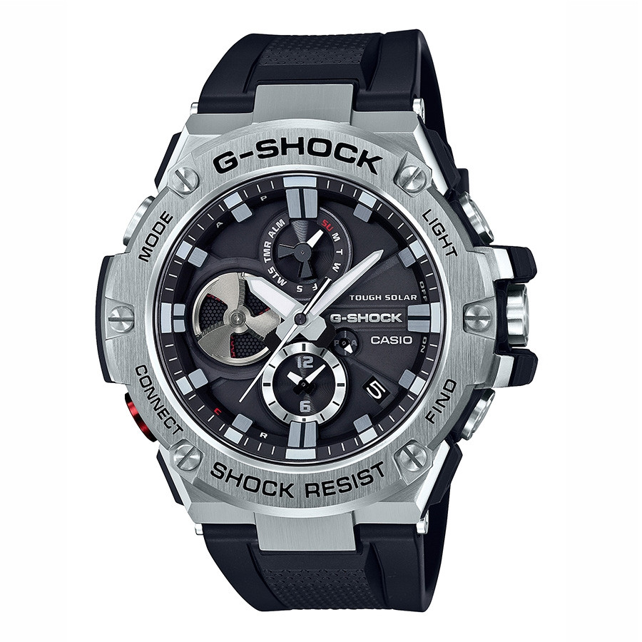 Casio G-Steel G-Shock Solar Black Chronograph Watch