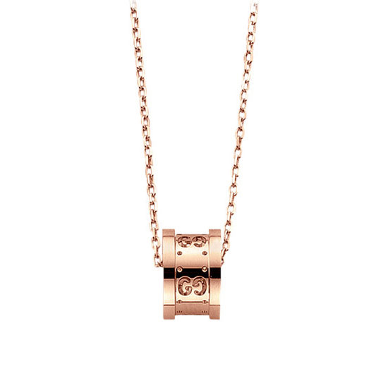 Gucci Icon Twirl Rose Gold Necklace