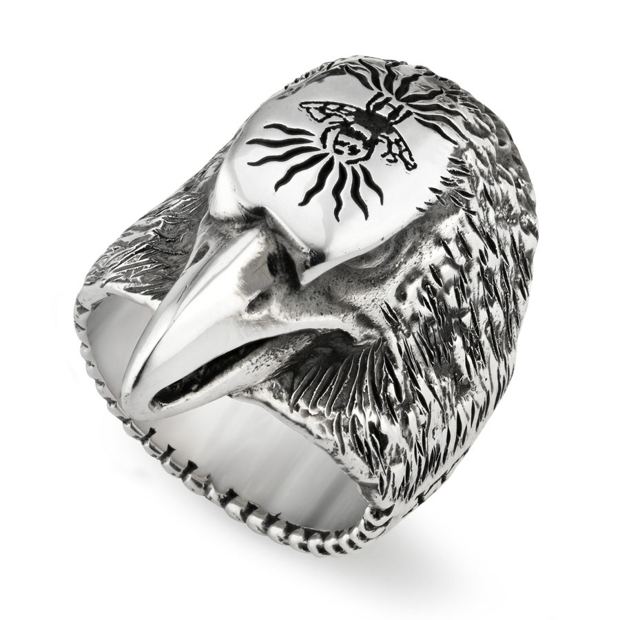 Gucci Small Forest Eagle Head Anger Ring