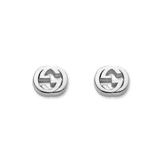 Gucci Sterling Silver Interlocking G Earrings
