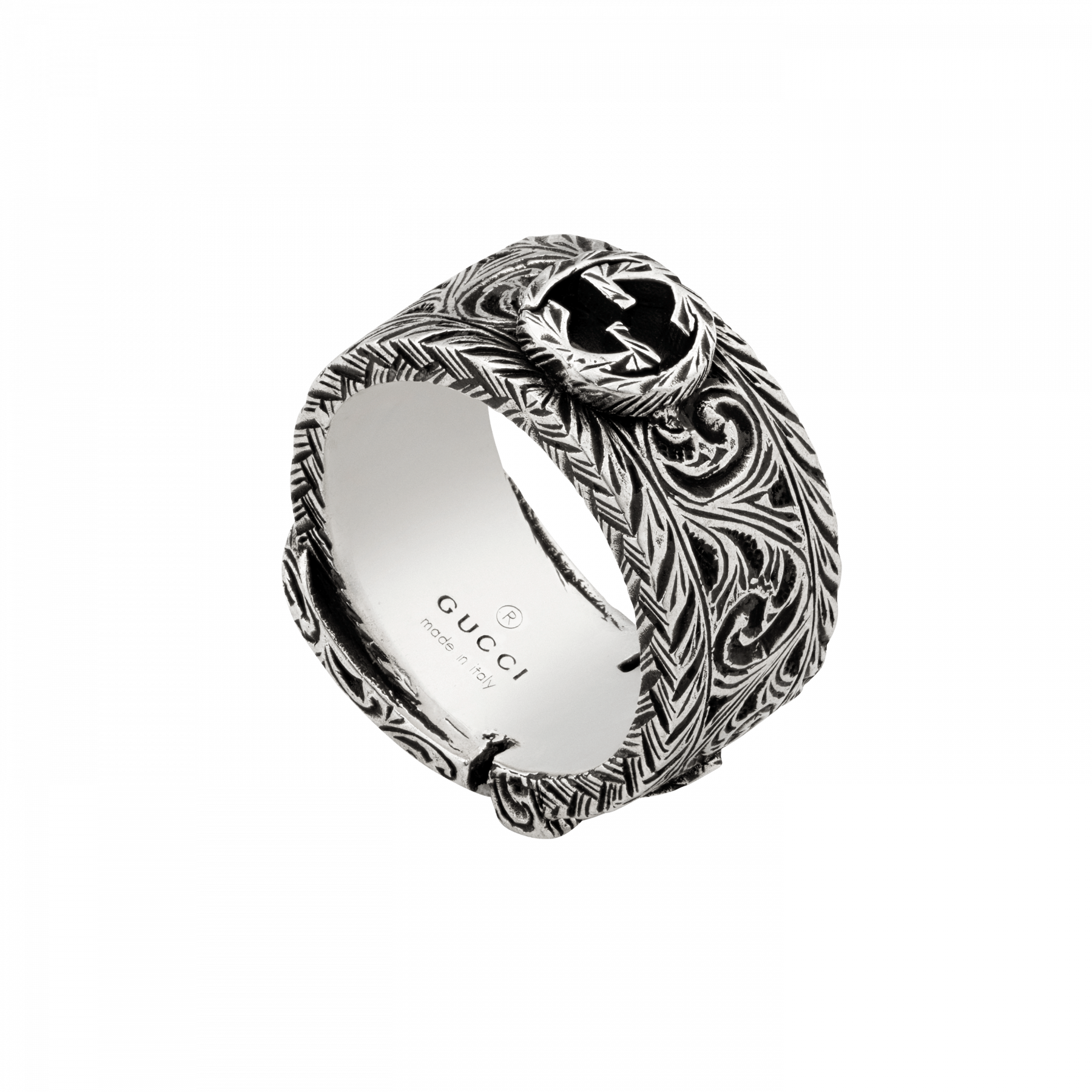 Gucci Garden Buckle Ring in Sterling Silver bottom view