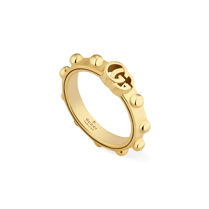 beef0275c Gucci GG Studded 18K Gold Ring
