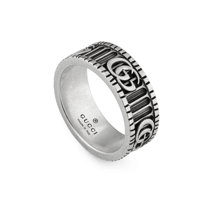 Gucci GG Marmont Double G Sterling Silver Band main image
