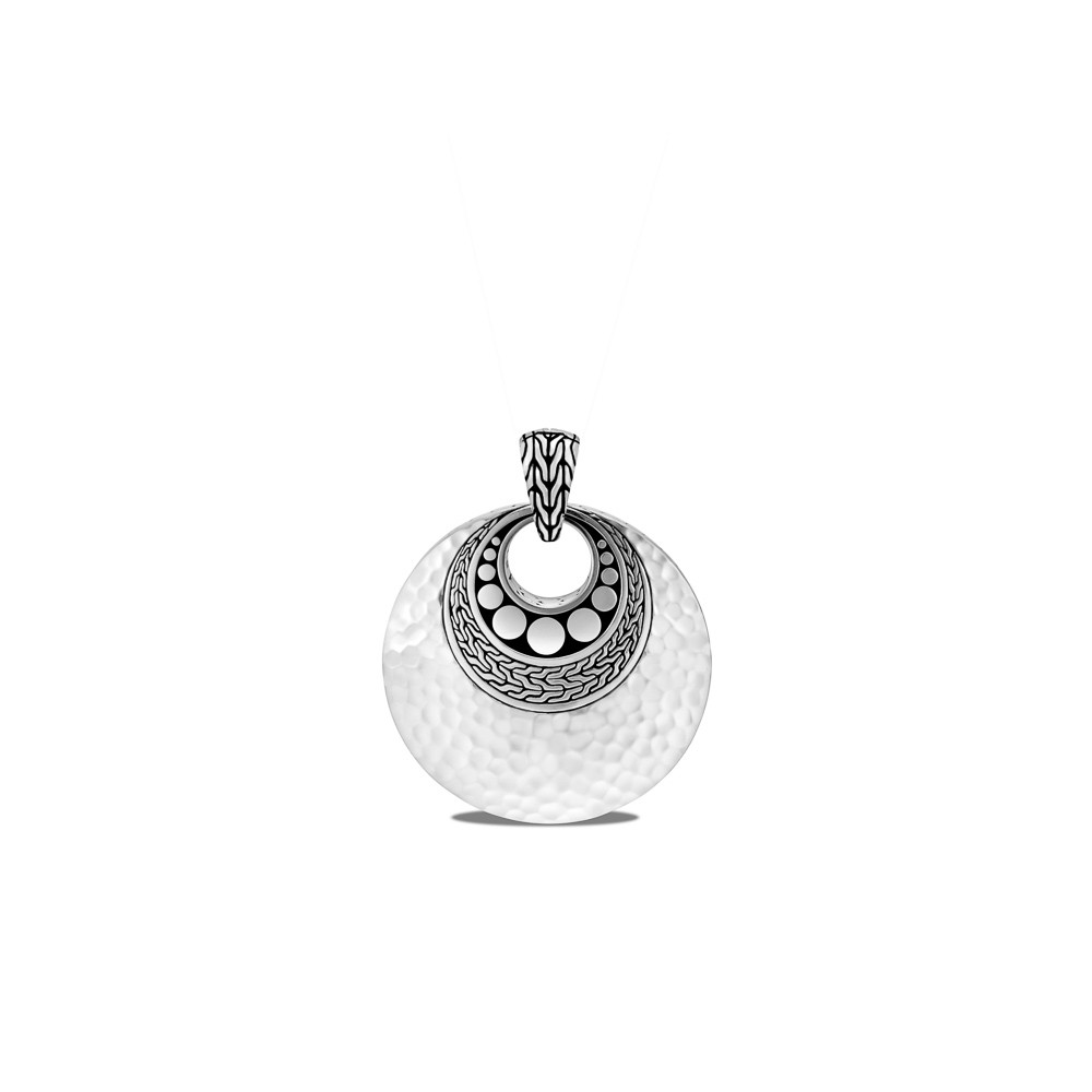 John Hardy Dot Hammered Pendant in Sterling Silver