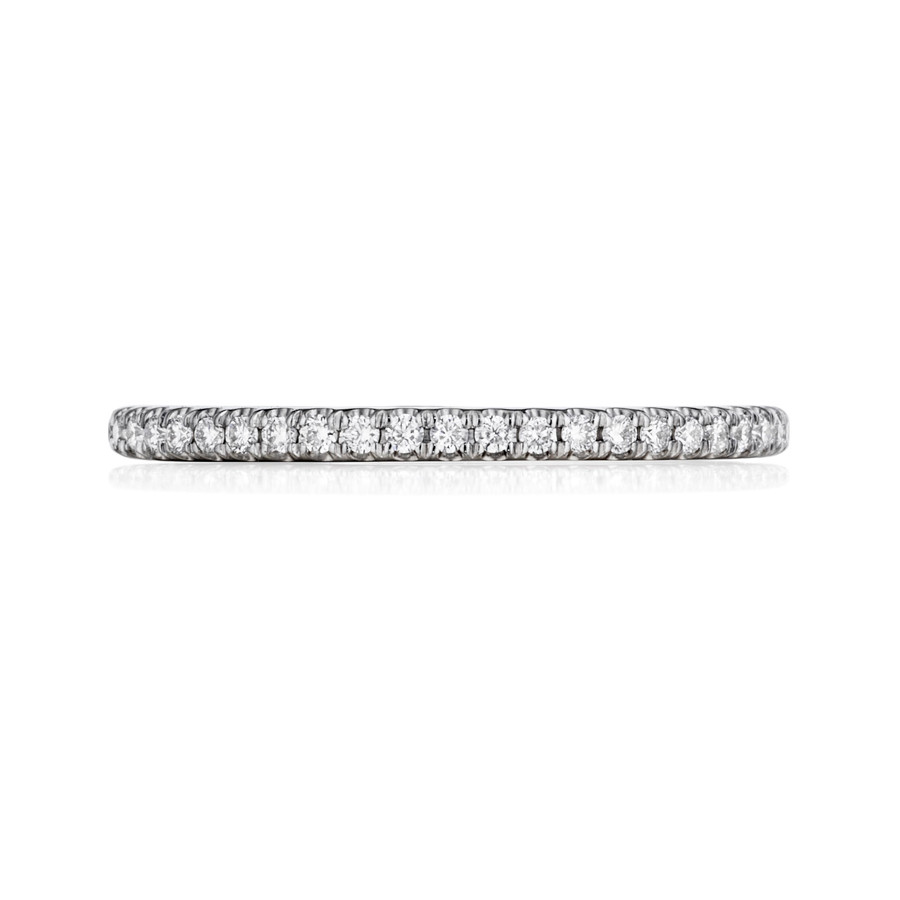 Henri Daussi WBPLX White Gold Pave Diamond Wedding Band