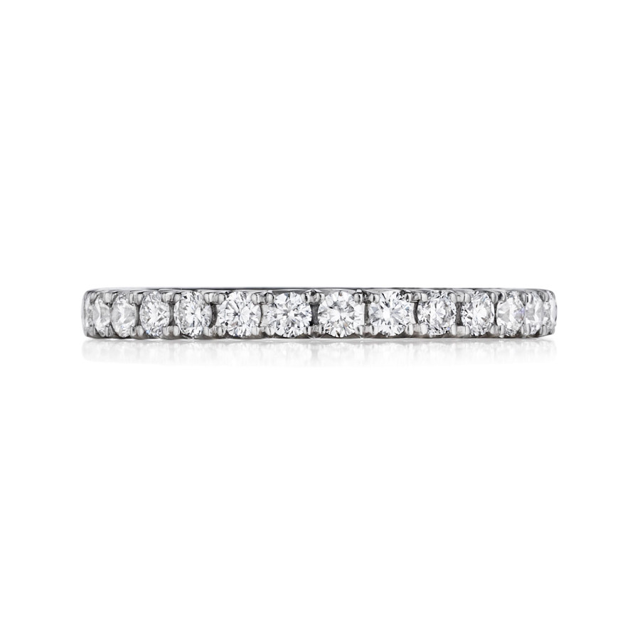 Henri Daussi WBSR White Gold Pave Diamond Wedding Band