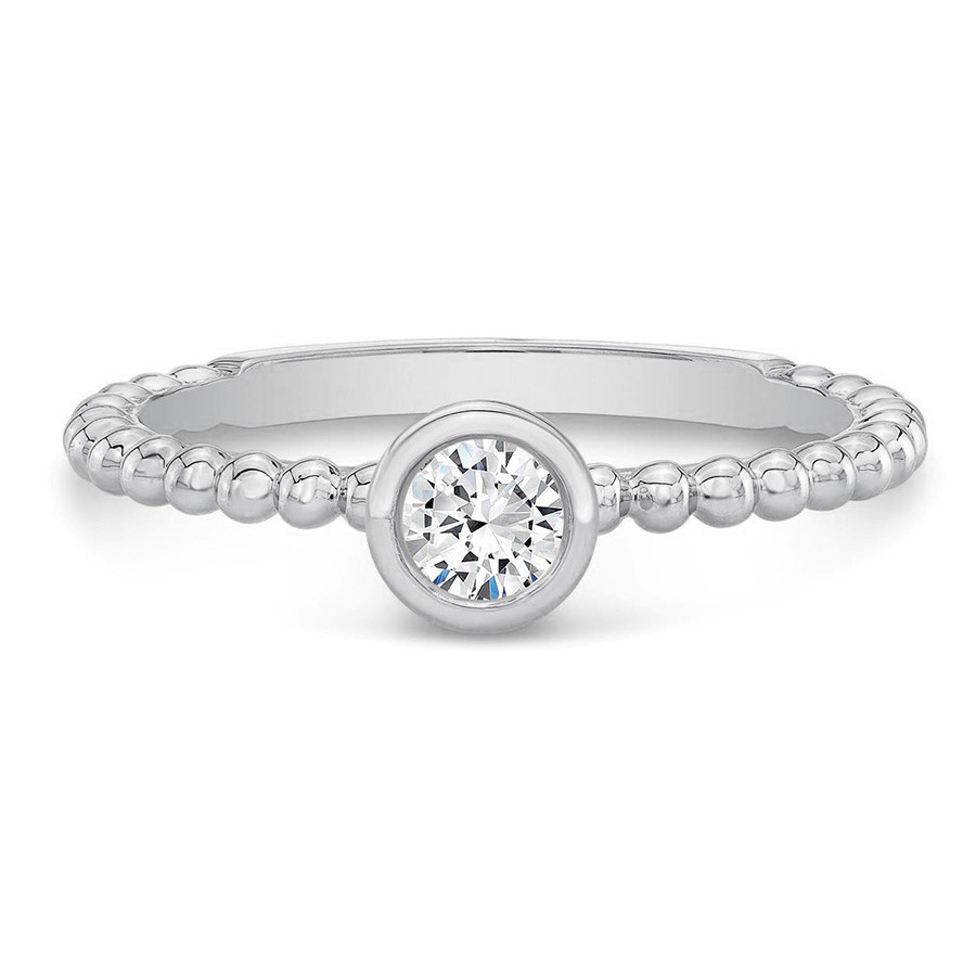 Forevermark Tribute White Gold Stackable Diamond Ring