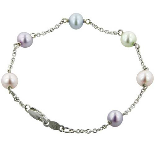 Honora Girls Sterling Silver Potato Candy Freshwater Cultured Pearl Bracelet