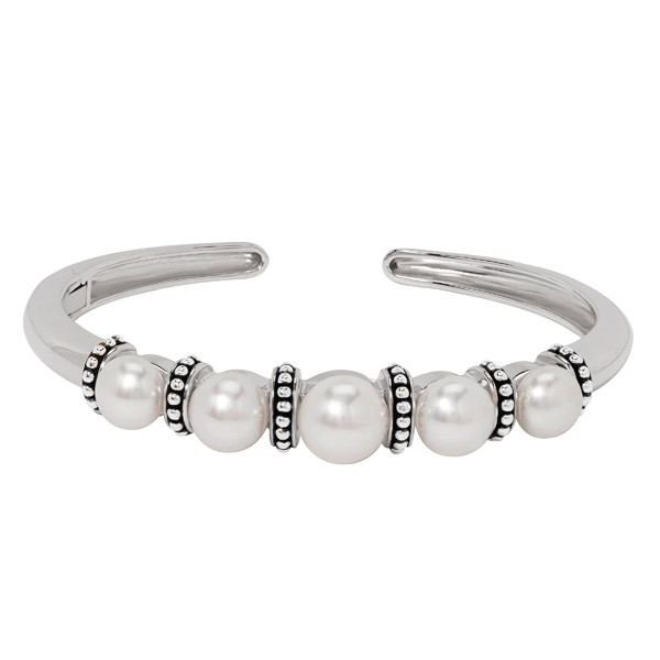 Honora Sterling Silver White Pearl Cuff Bracelet