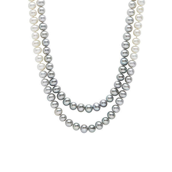 Honora Ombre Grey to White Long Pearl Strand
