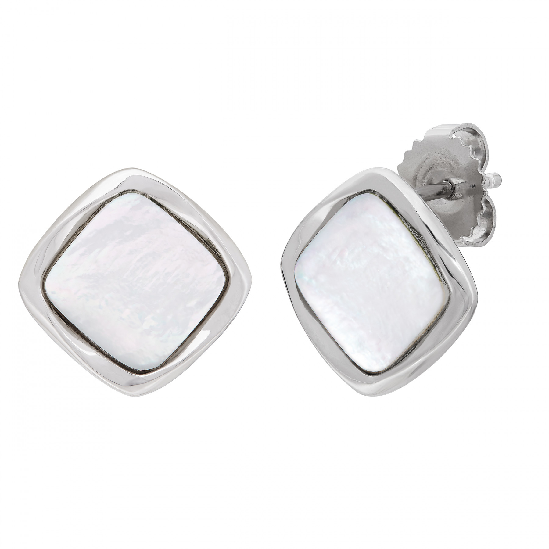 Honora Mother of Pearl and Silver Studs