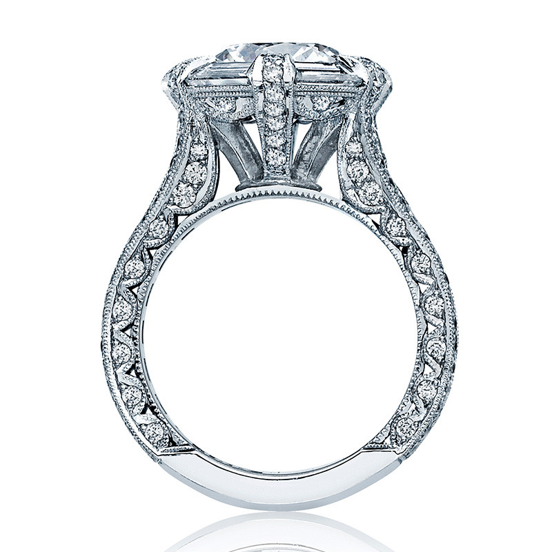 Tacori HT2603RD Baguette Bloom Channel Set Engagement Ring RoyalT Setting Edge View