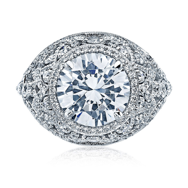 Tacori HT2612RD Sculpted Bloom Engagement Ring RoyalT Setting Top View