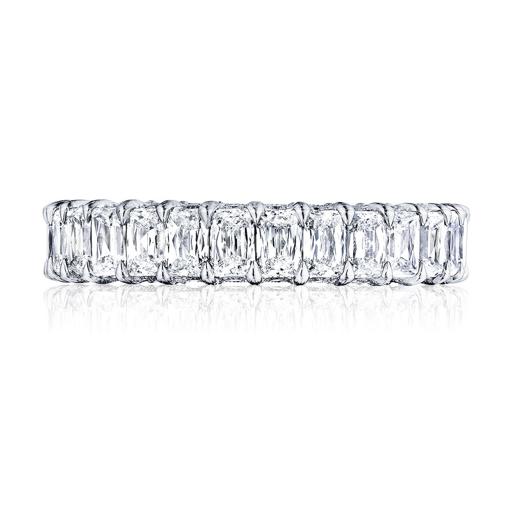 Tacori RoyalT Wide Triple Cut Diamond Eternity Wedding Band