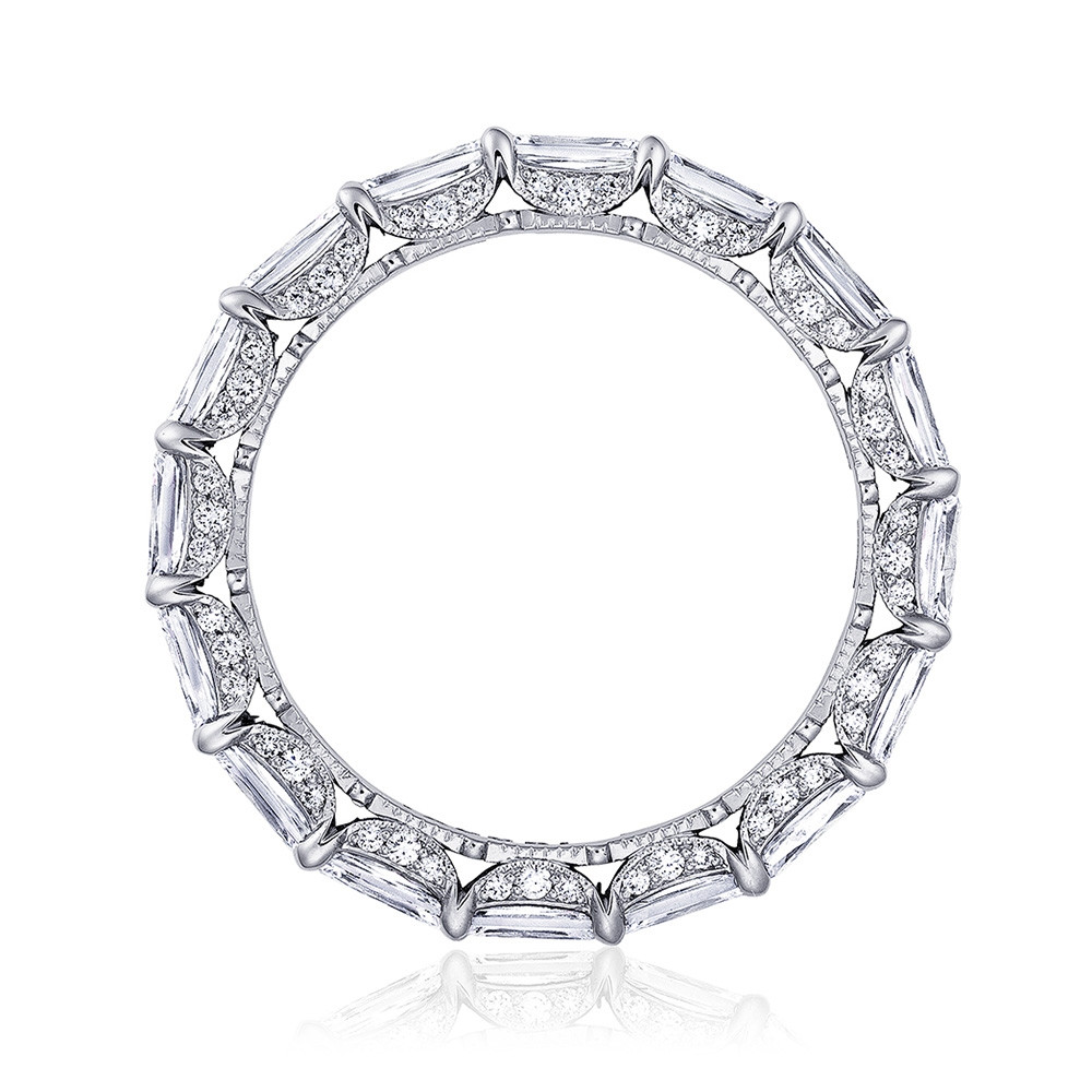 Tacori RoyalT East-West Triple Cut Diamond Eternity Wedding Band Side View