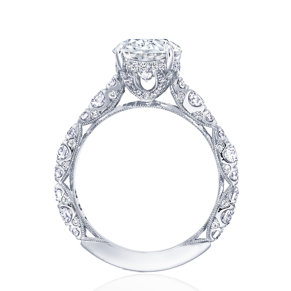 Tacori RoyalT Hidden Bloom HT2654OV Oval Diamond Engagement Ring Setting