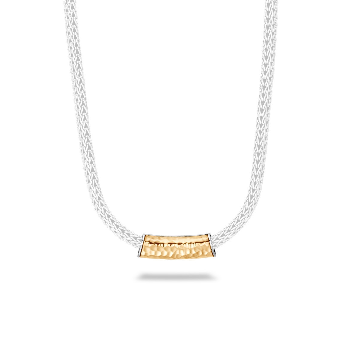 John Hardy Classic Chain Hammered Yellow Gold & Silver Enhancer