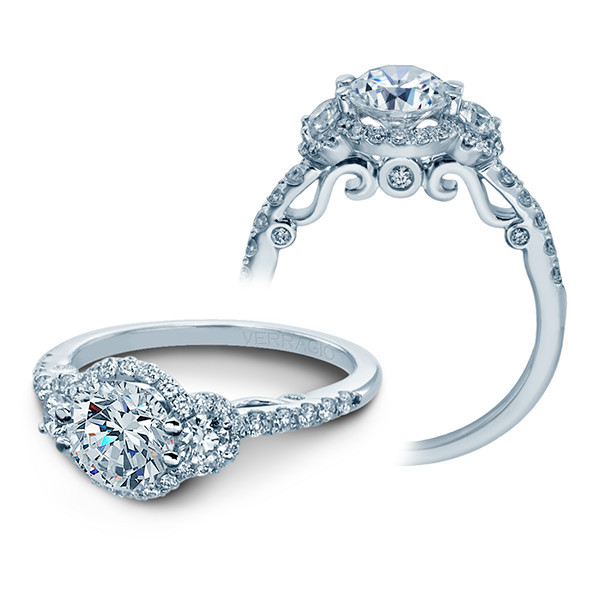 Verragio Insignia Three Stone Halo Engagement Setting