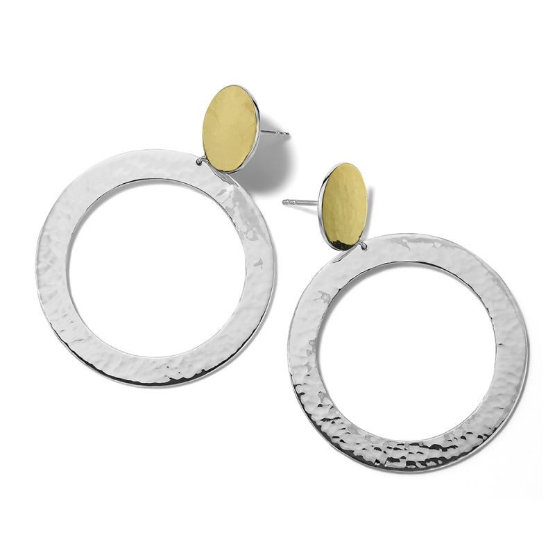 Ippolita Chimera Open Disc Dangle Earrings in Silver and 18K Gold main view