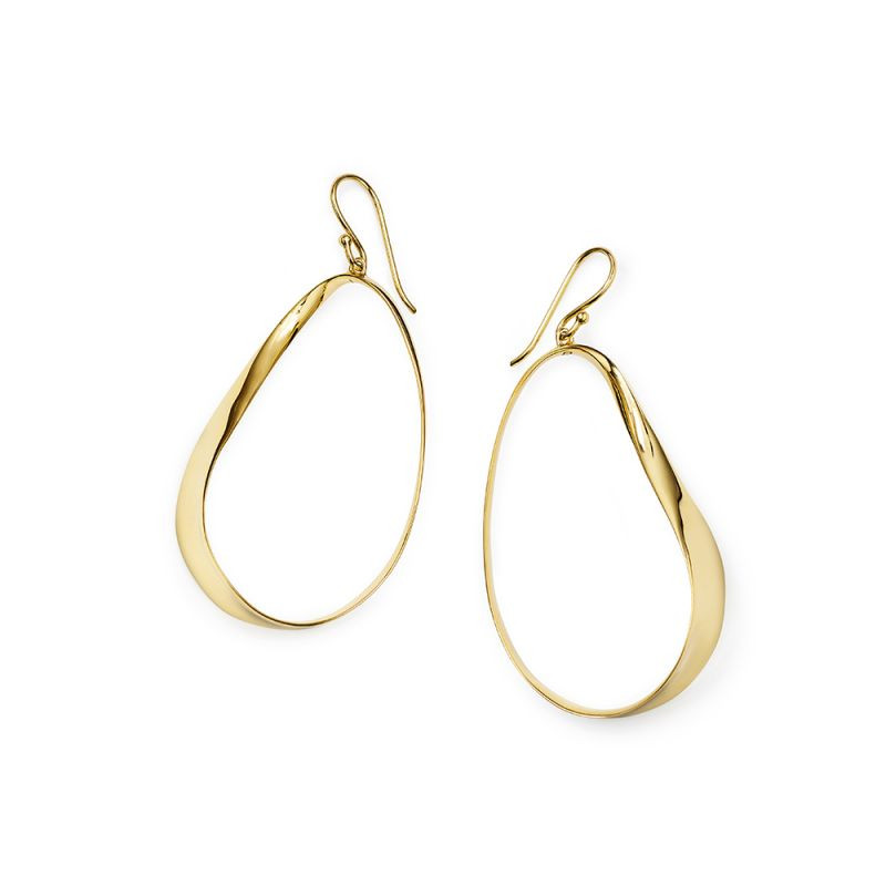 Ippolita Classico Twisted Ribbon Hoops in 18K Gold main view