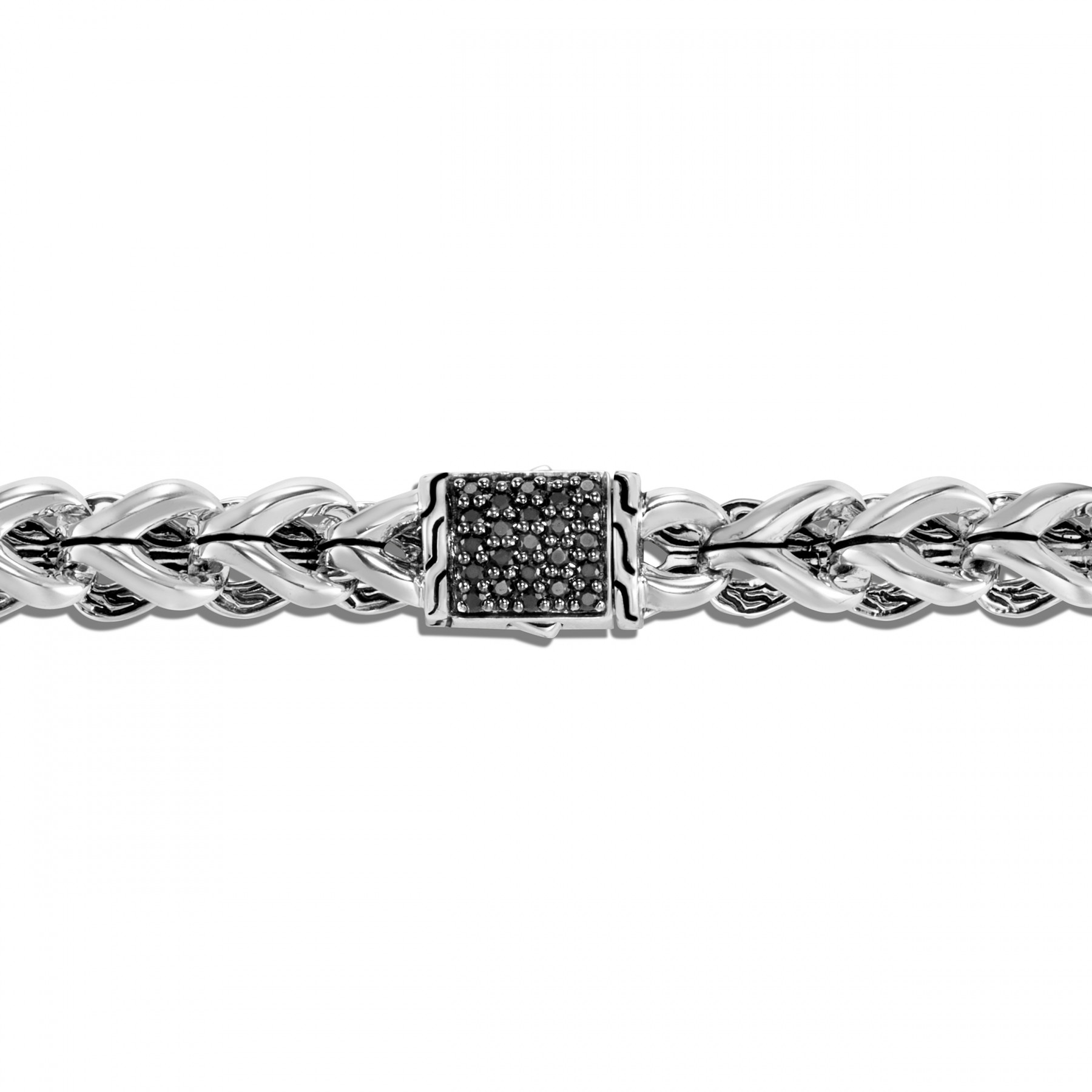 John Hardy Asli Classic Chain Black Sapphire Bracelet in Sterling Silver clasp view