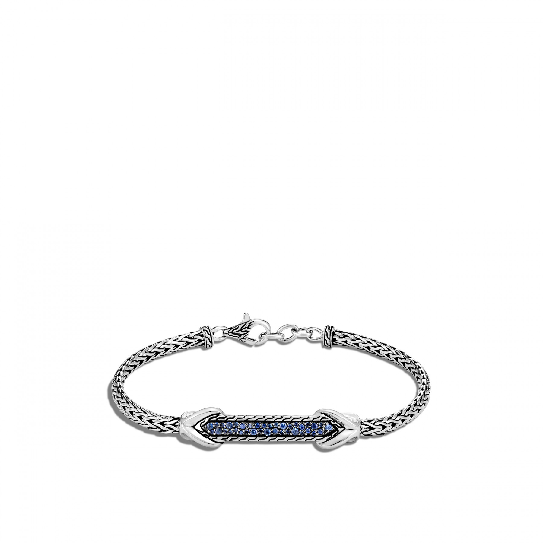 John Hardy Asli Classic Chain Silver and Blue Sapphire Bracelet