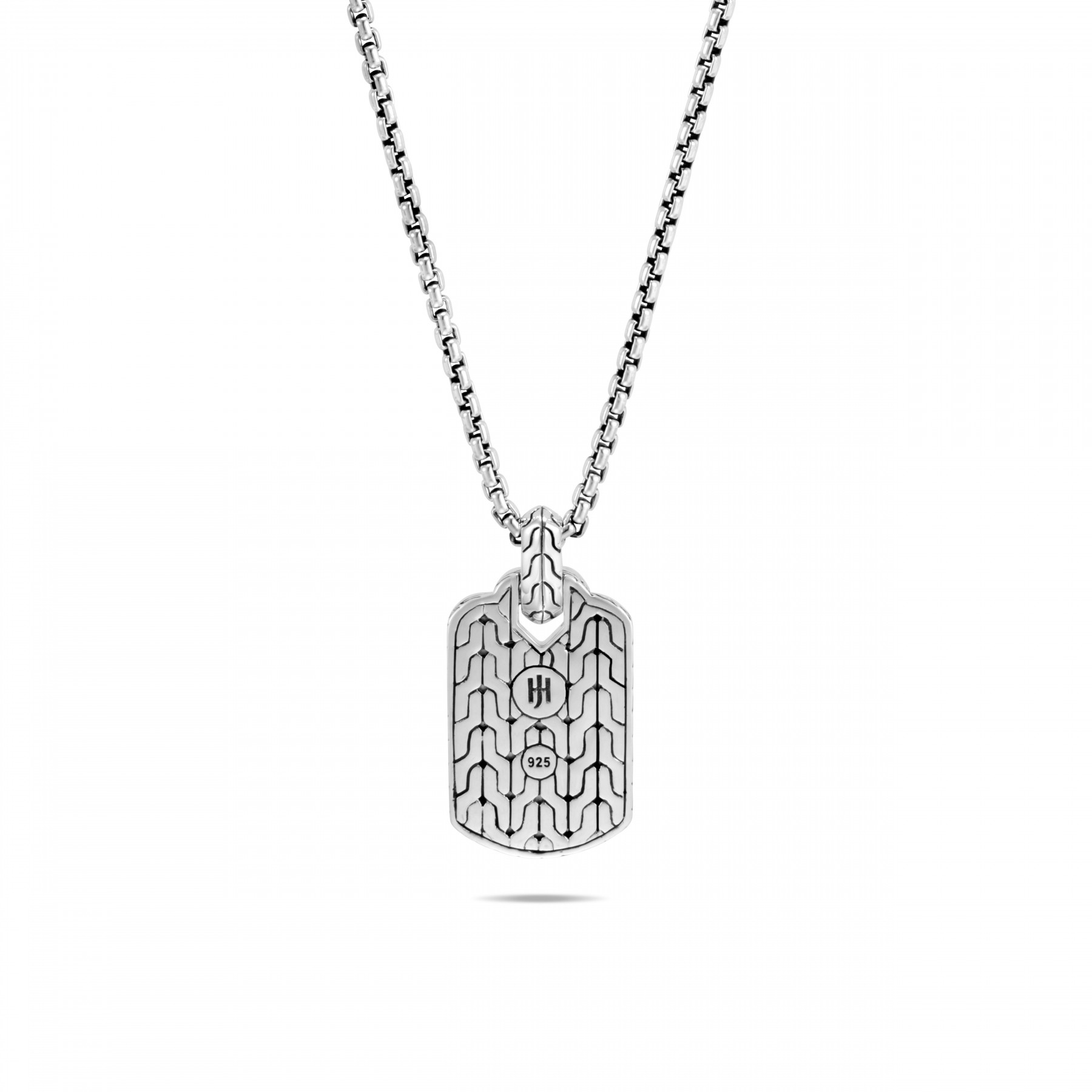 John Hardy Asli Classic Chain Silver and Black Necklace back view