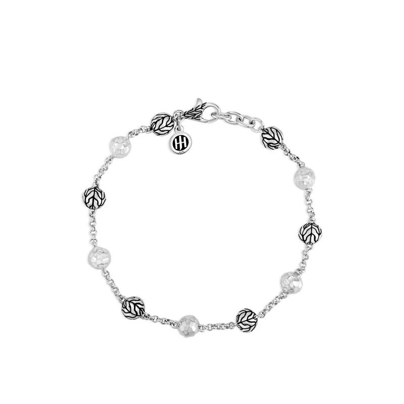 John Hardy Classic Chain Bead Bracelet in Sterling Silver front view