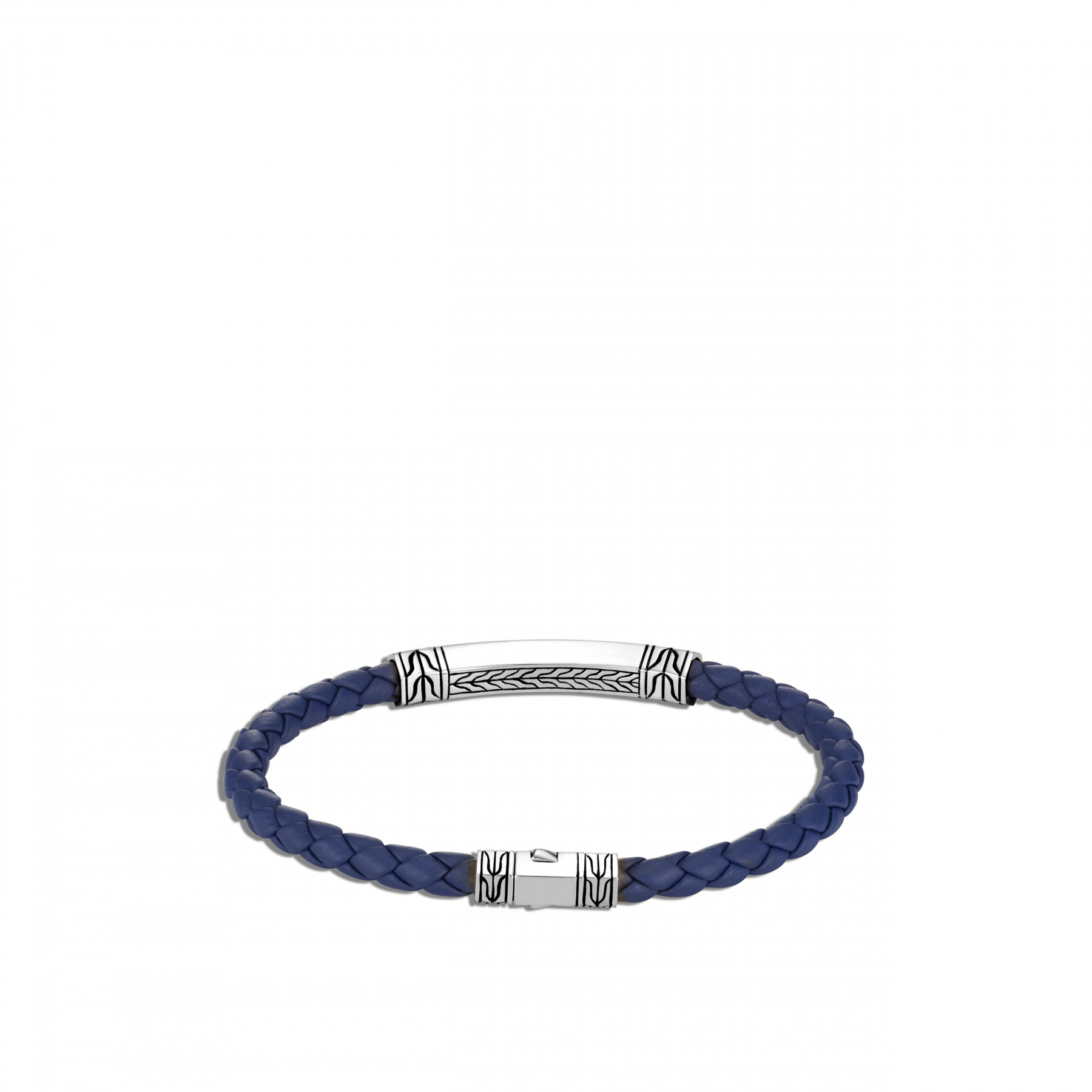John Hardy Classic Chain Blue and Silver Station Bracelet back view