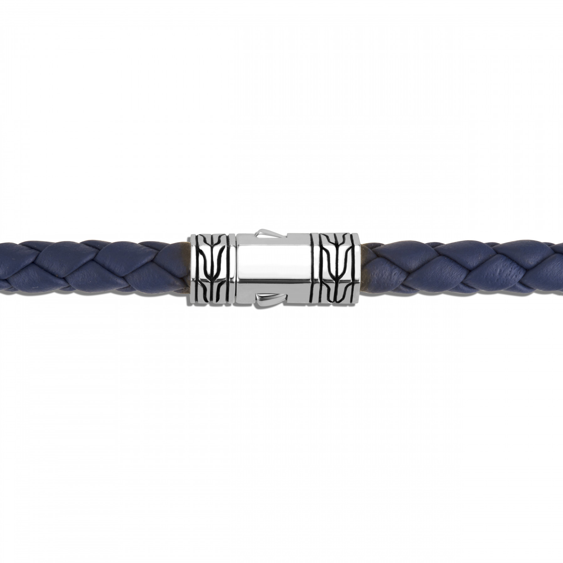 John Hardy Classic Chain Blue and Silver Station Bracelet clasp view