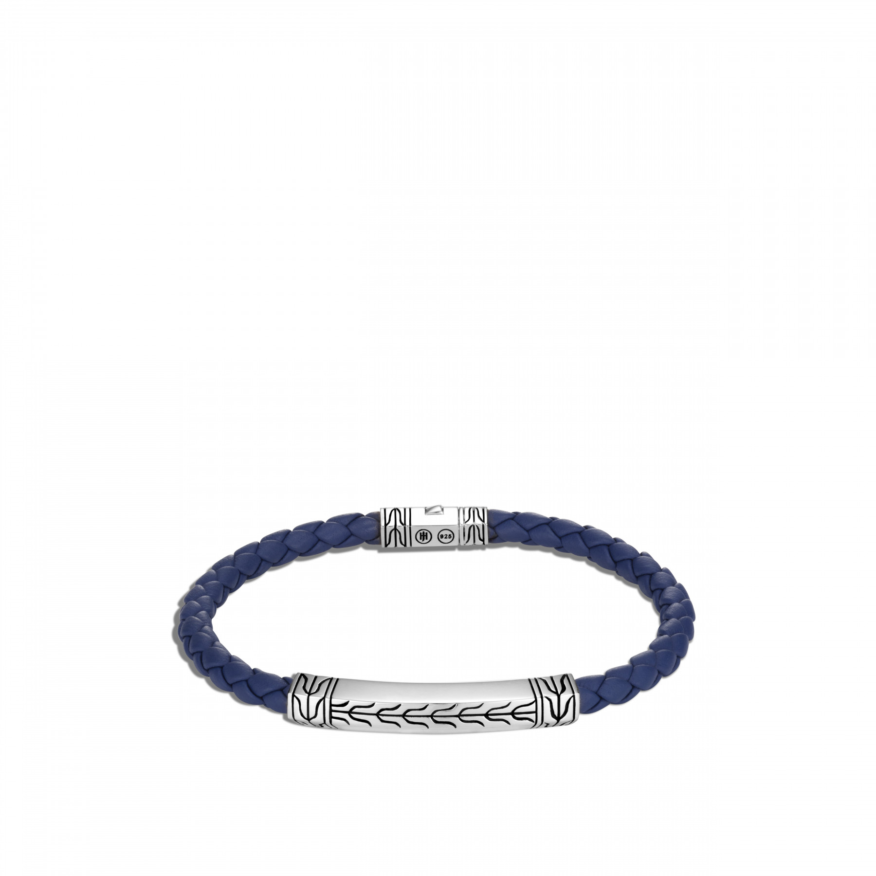 John Hardy Classic Chain Blue and Silver Station Bracelet