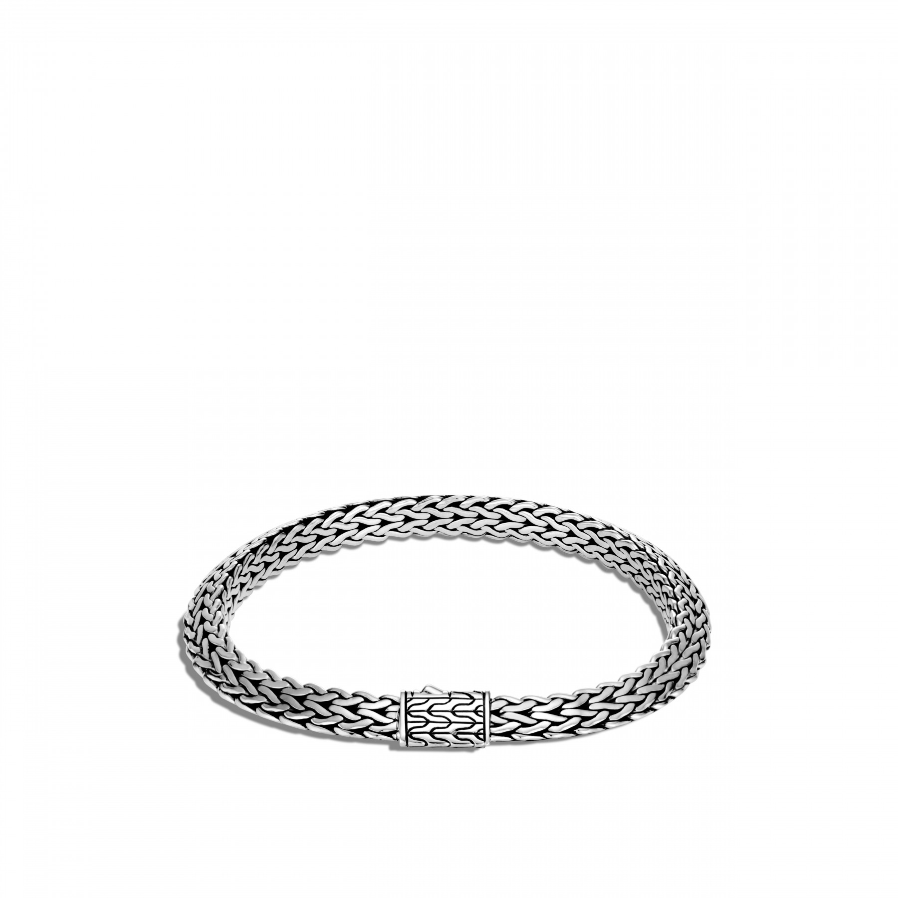 John Hardy Classic Chain Silver Bracelet - 6.4mm front view