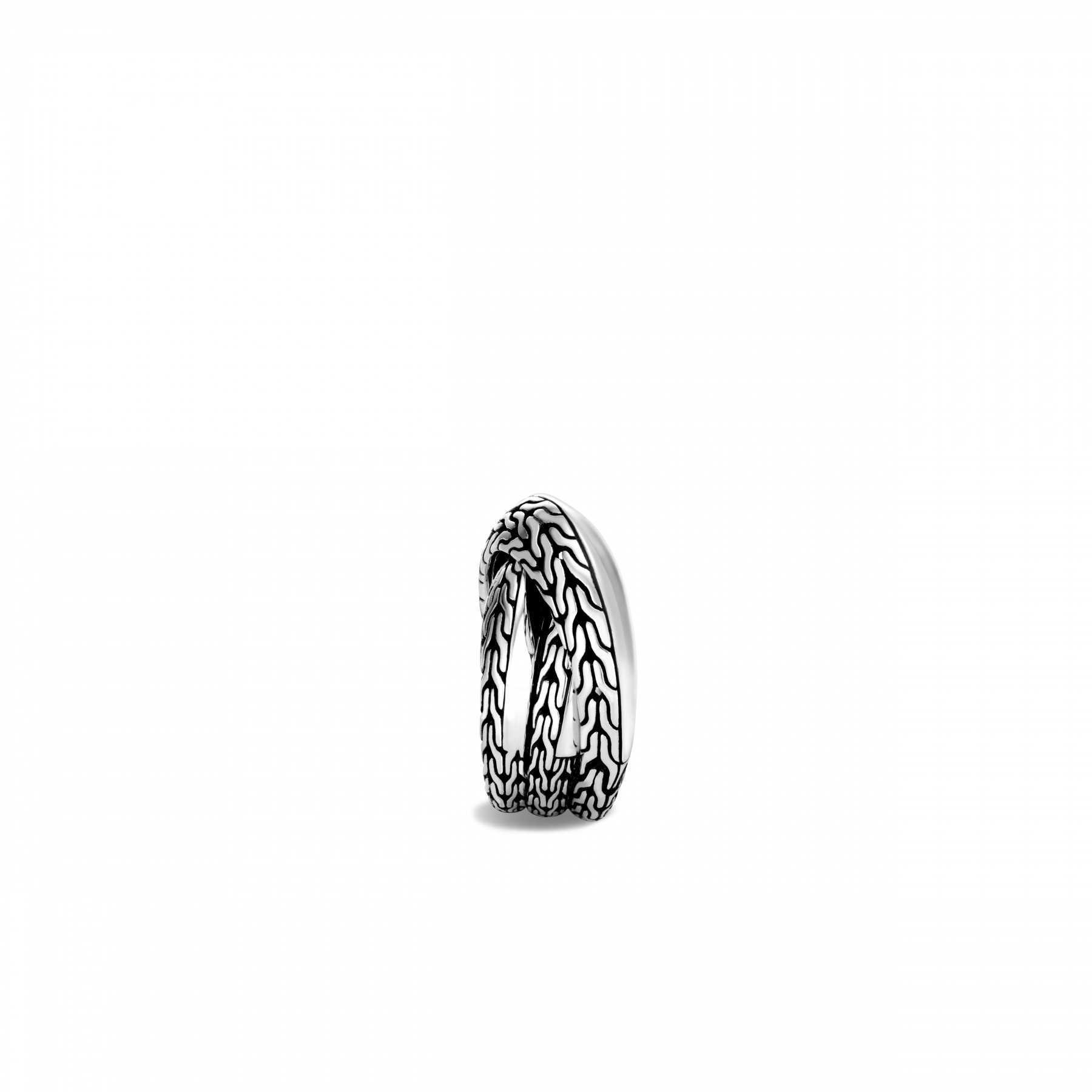 John Hardy Classic Chain Double Band Crossover Ring on side